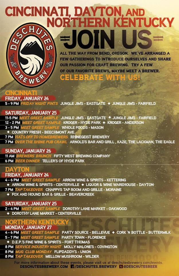 Deschutes Launch Events